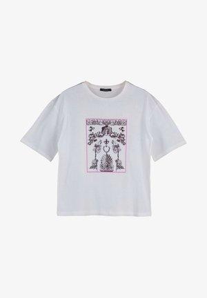 TRENDYOL PARENT-101797549 - Print T-shirt - cream