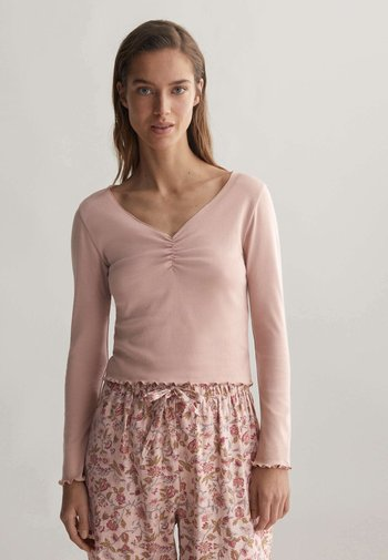 V-NECK - Pyjama top - rose