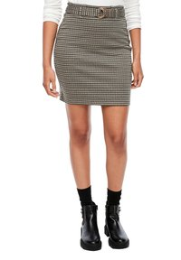 Q/S designed by - MET RIEM - Pencil skirt - dusty brown check - 5