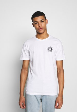SUN MOON TEE - T-Shirt print - white