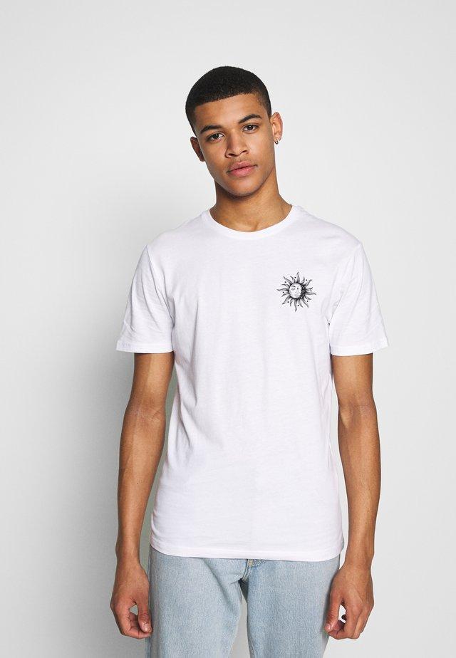 SUN MOON TEE - T-shirts print - white