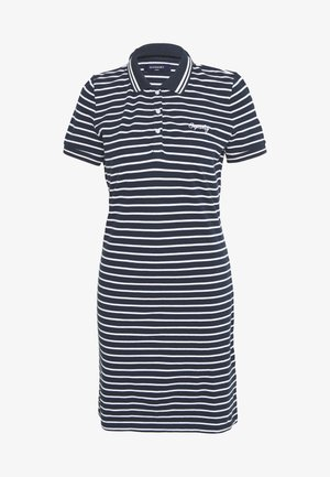 POLO DRESS - Vestito estivo - navy stripe