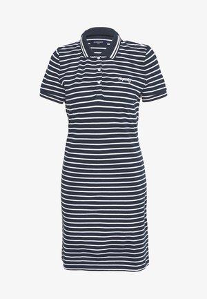 POLO DRESS - Day dress - navy stripe
