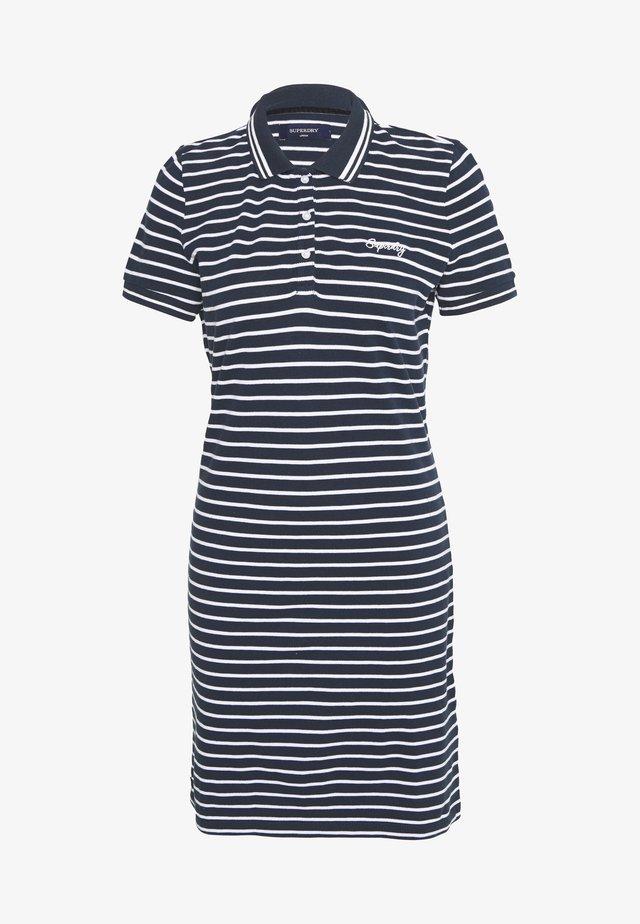POLO DRESS - Korte jurk - navy stripe