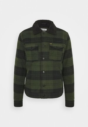 WOOL MIX  SHERPA JACKET - Välikausitakki - rifle green