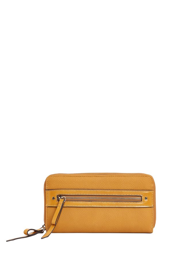 ZIP DETAIL ZIP AROUND PURSE - Wallet - yellow