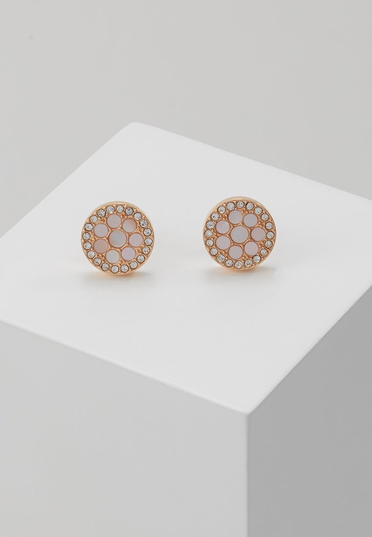 Fossil - VINTAGE GLITZ - Earrings - rosegold-coloured