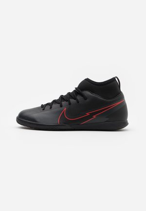 MERCURIAL 7 CLUB IC - Indoor football boots - black/dark smoke grey