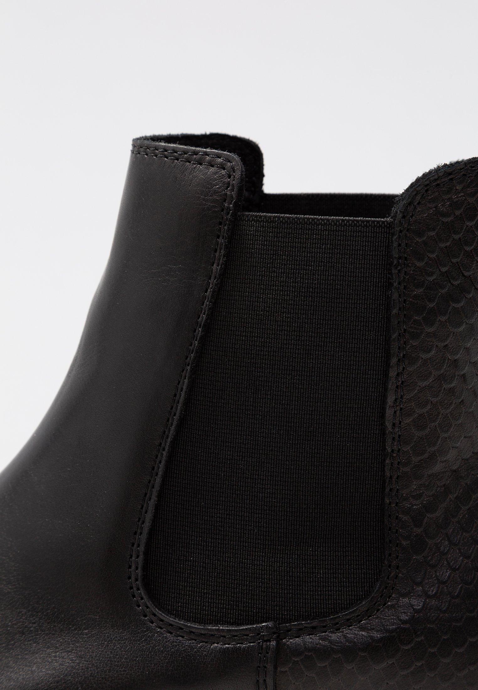 Bianco Cleated Chelsea - Plateaustøvletter Black