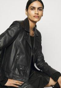 RIANI - Leather jacket - black - 3