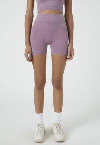 PULL&BEAR - Shorts - dark purple - 0
