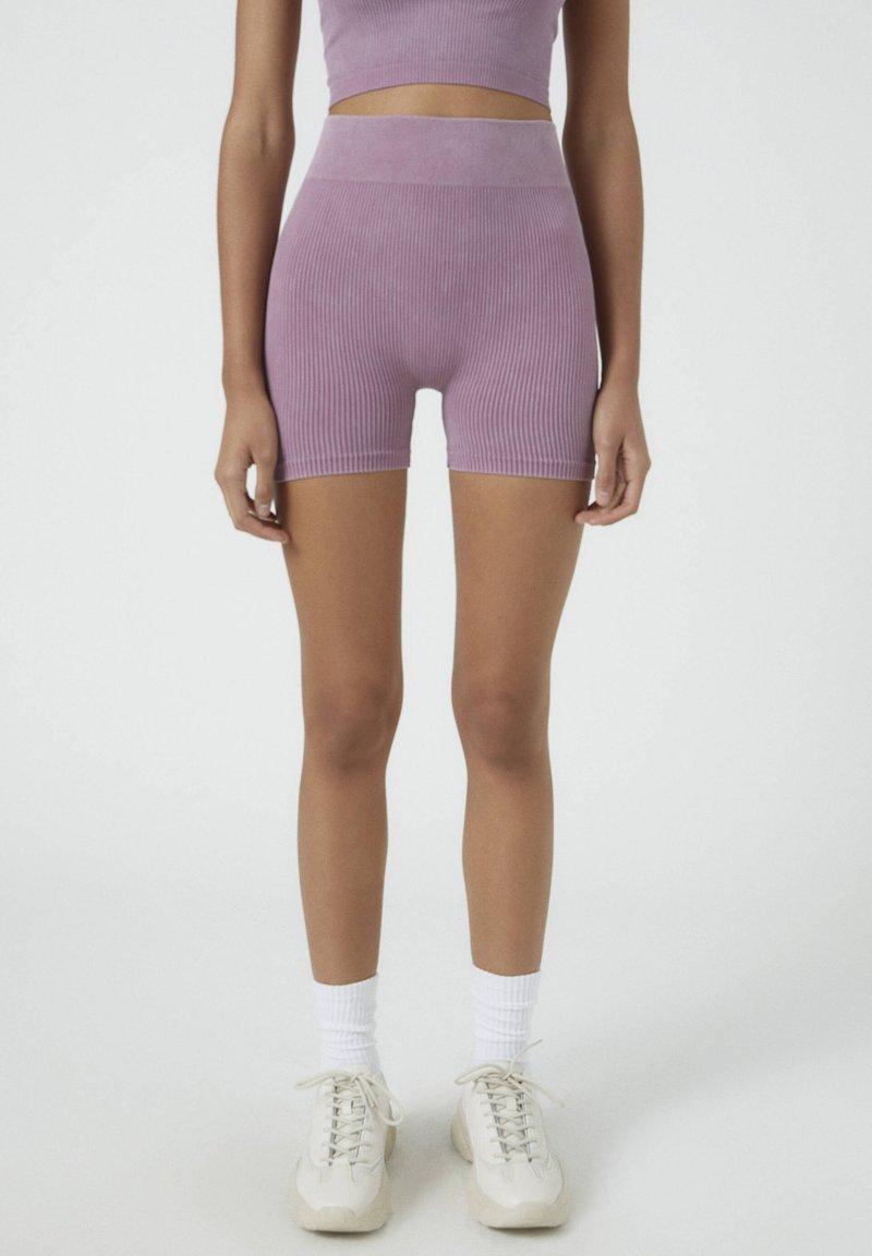 PULL&BEAR - Shorts - dark purple