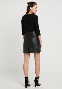 Even&Odd - BODYSUIT - Long sleeved top - black - 2