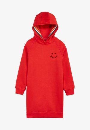 Jersey dress - fiery red