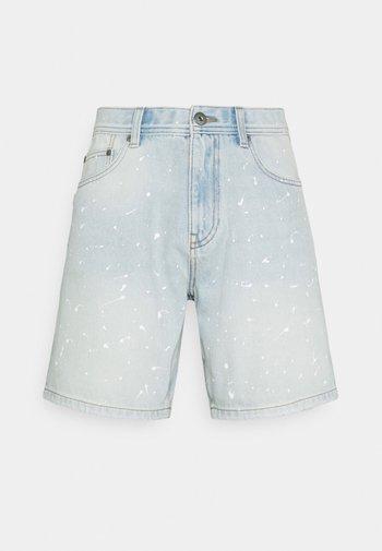 Denim shorts - blue bleached