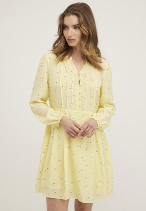 Shirt dress - jaune