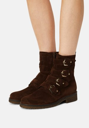 Classic ankle boots - whisky/gold