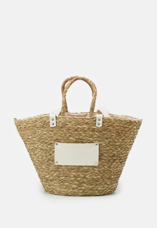 LARGE BEACH BAG - Shopping bags - nature