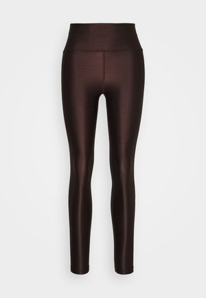 CROPPED GLOSS LEGGING - Collant - maroon