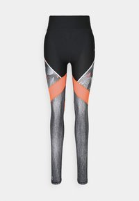 ONLY PLAY Tall - ONPJUDIE TRAINING TIGHTS - Leggings - Trousers - black/fiery coral - 0