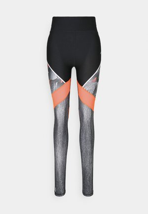 ONPJUDIE TRAINING TIGHTS - Leggings - black/fiery coral