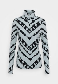Proenza Schouler White Label - SHEER STRETCH TNECK SLIT - Long sleeved top - steel blue chevron - 5