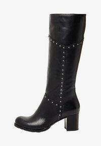 usha - Overknee laarzen - black - 1