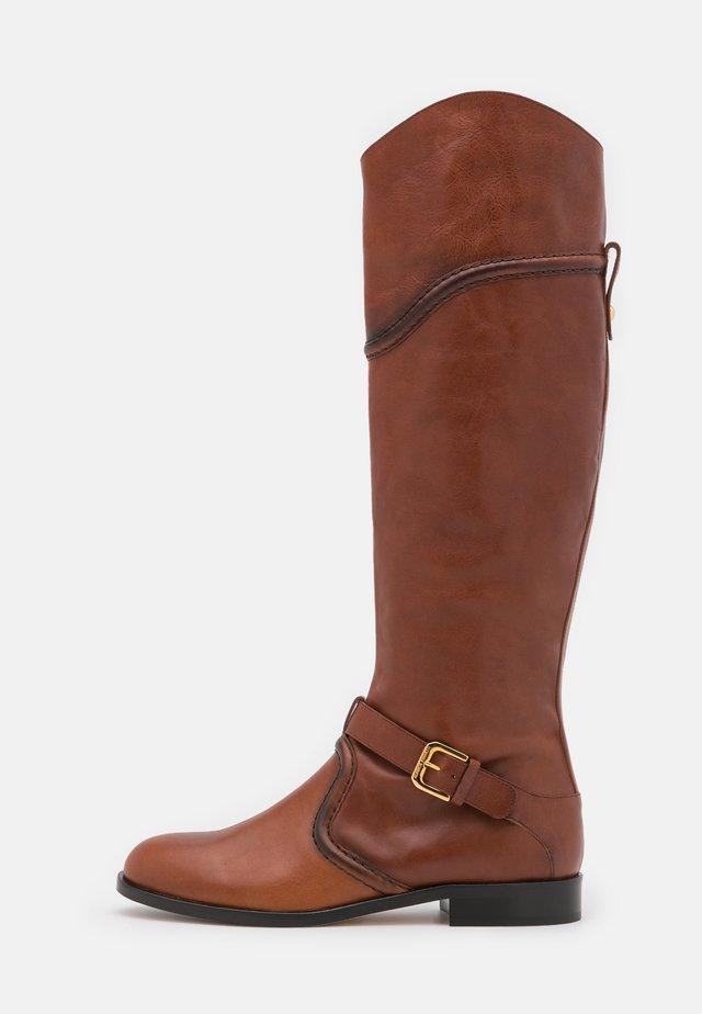 RIDING - Kovbojské/motorkářské boty - brown