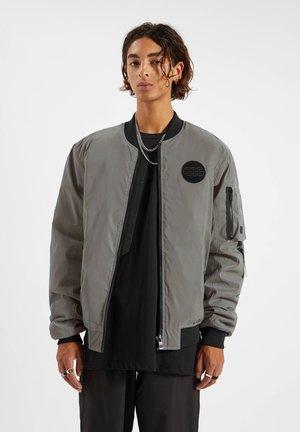 Bomber Jacket - mottled light grey