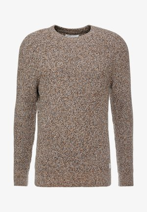 Pullover - mottled dark yellow