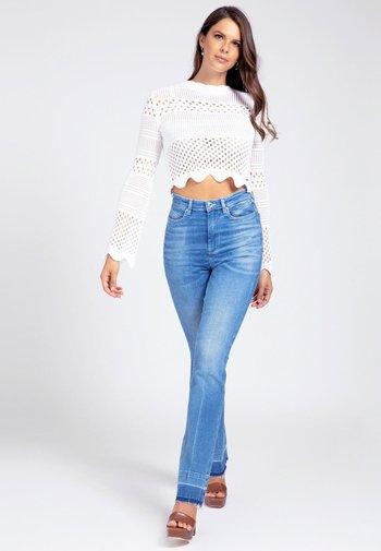 JAQUARD - Sweter - weiß