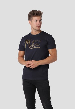 Print T-shirt - dk.navy