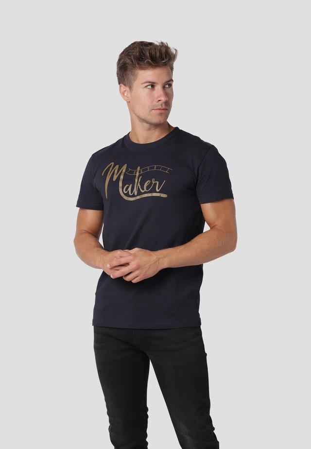 T-shirt med print - dk.navy