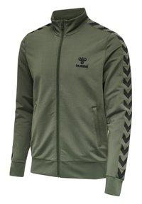 Hummel - NATHAN  - Zip-up sweatshirt - beetle - 2