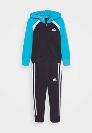 HOODIE TRAINING SPORTS TRACKSUIT - Tracksuit - purple/cyan/white
