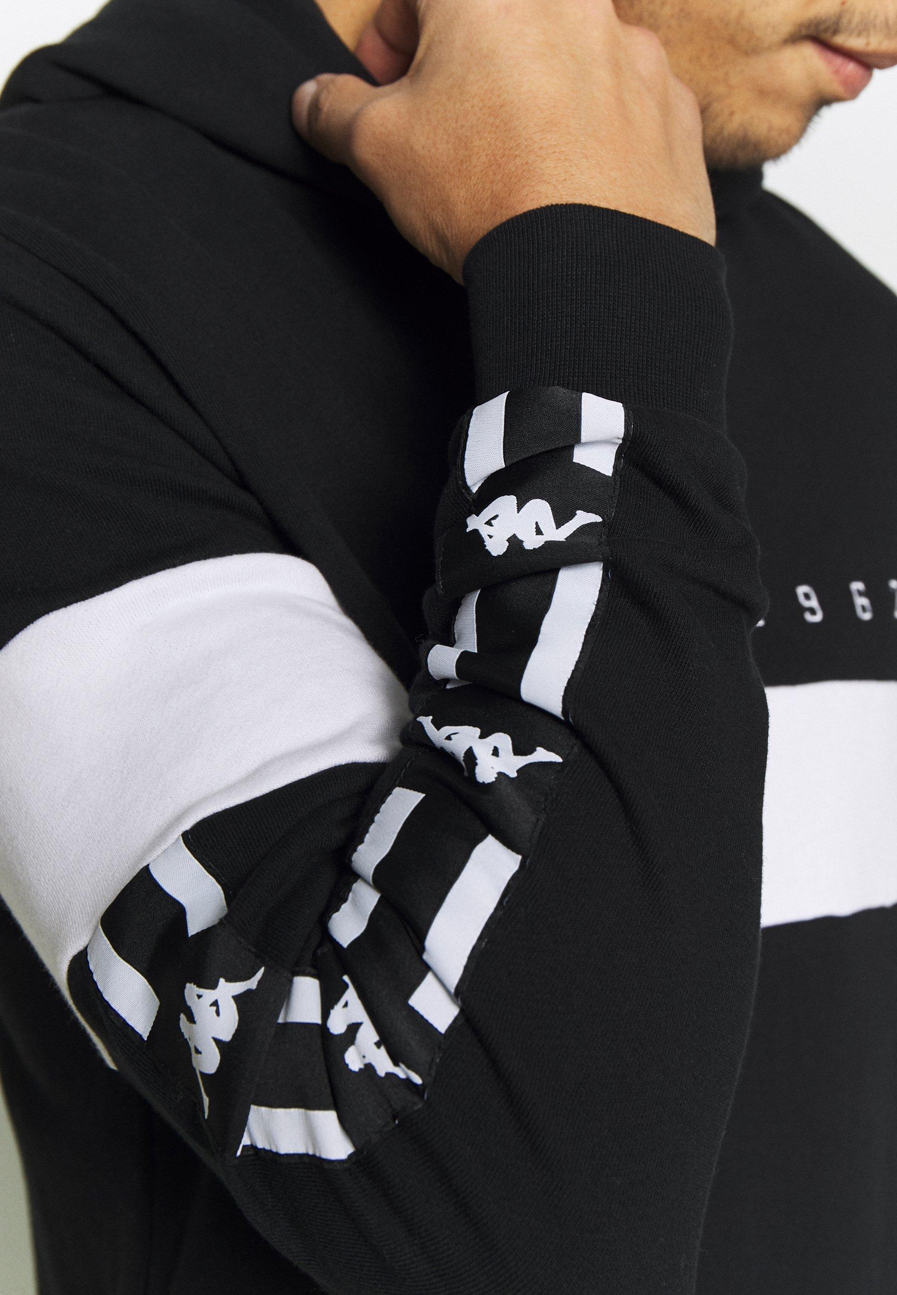 Kappa AUTHENTIC CASPOR - Sweat à capuche - black-white