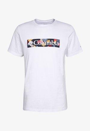 RAPID RIDGE™ GRAPHIC TEE - T-shirt z nadrukiem - white/wildfire