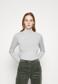 Cotton On - MILA MOCK NECK LONG SLEEVE - Long sleeved top - silver marle - 0
