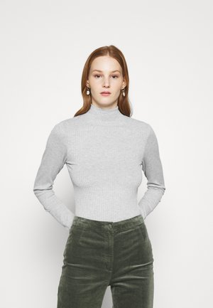 MILA MOCK NECK LONG SLEEVE - Topper langermet - silver marle