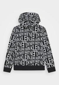 Calvin Klein Jeans - DISTORTED LOGO ZIP HOODIE - Zip-up hoodie - black - 3