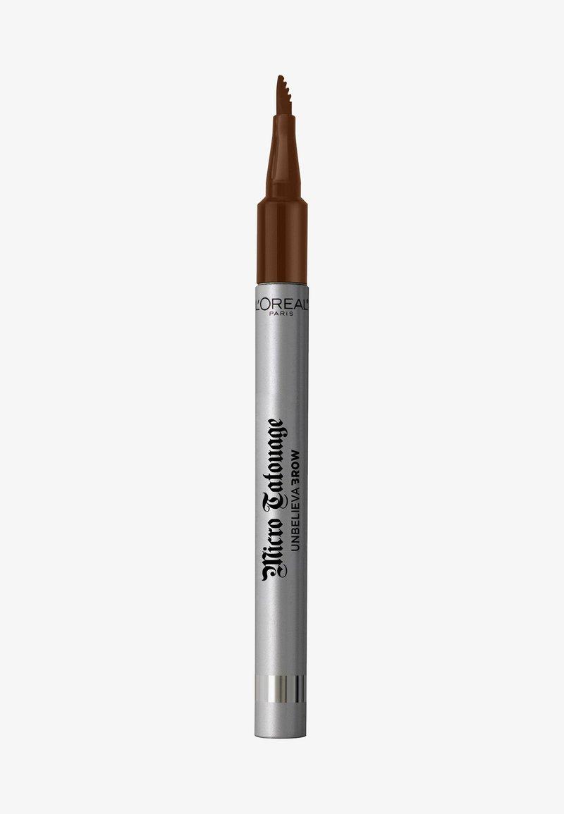 L'Oréal Paris - UNBELIEVA BROW MICRO TATOUAGE - Eyebrow pencil - 105 brunette