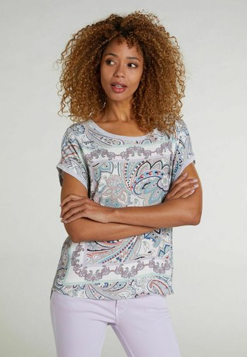 Print T-shirt - lt green grey