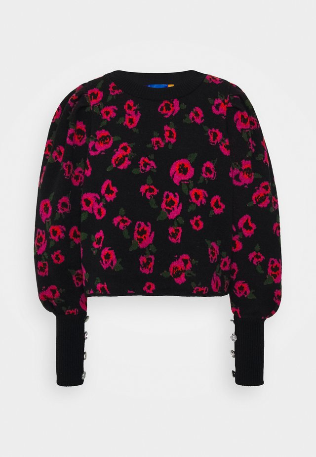 FLOWERBOMBCRAS - Stickad tröja - black