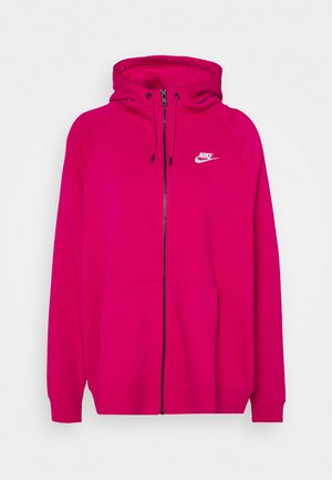 HOODY PLUS - Felpa aperta - fireberry/white