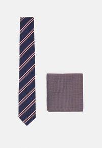 Pier One - SET - Cravatta - bordeaux/dark blue - 0