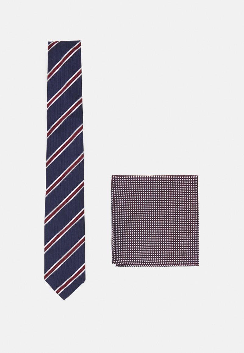 Pier One - SET - Cravatta - bordeaux/dark blue