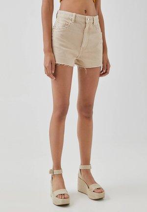 Shorts di jeans - beige