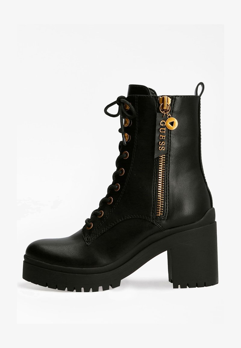 Guess - CABRA LOGO - Lace-up ankle boots - schwarz
