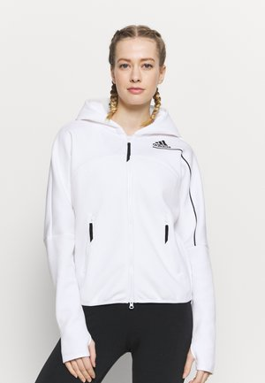 ZNE - Zip-up hoodie - white