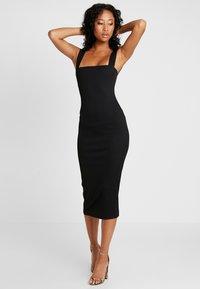 Missguided - SQUARE NECK DRESS - Etuikjoler - black - 2
